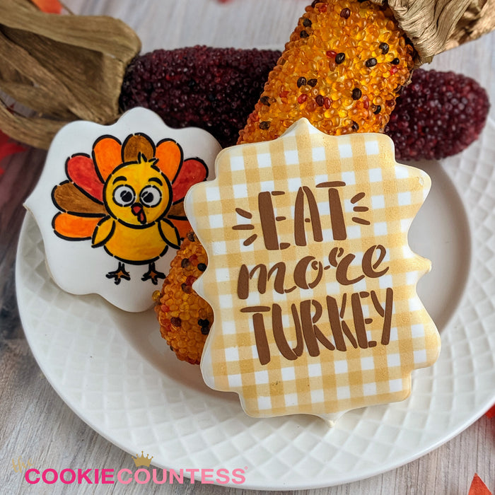 Eat More Turkey Stencil