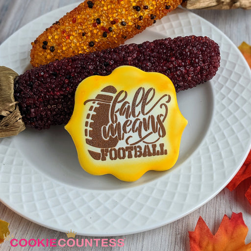 Fall Means Football Stencil
