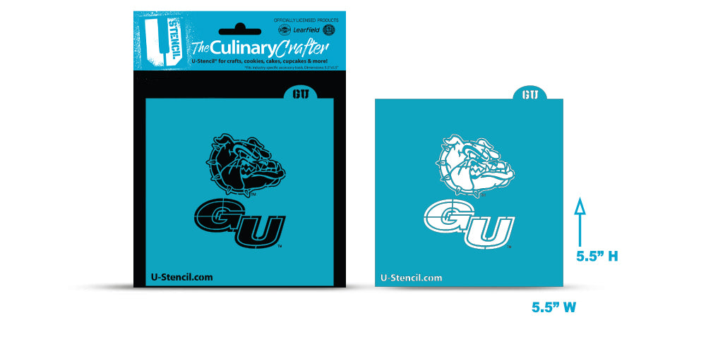 College Stencil -Gonzaga Bulldog and GU