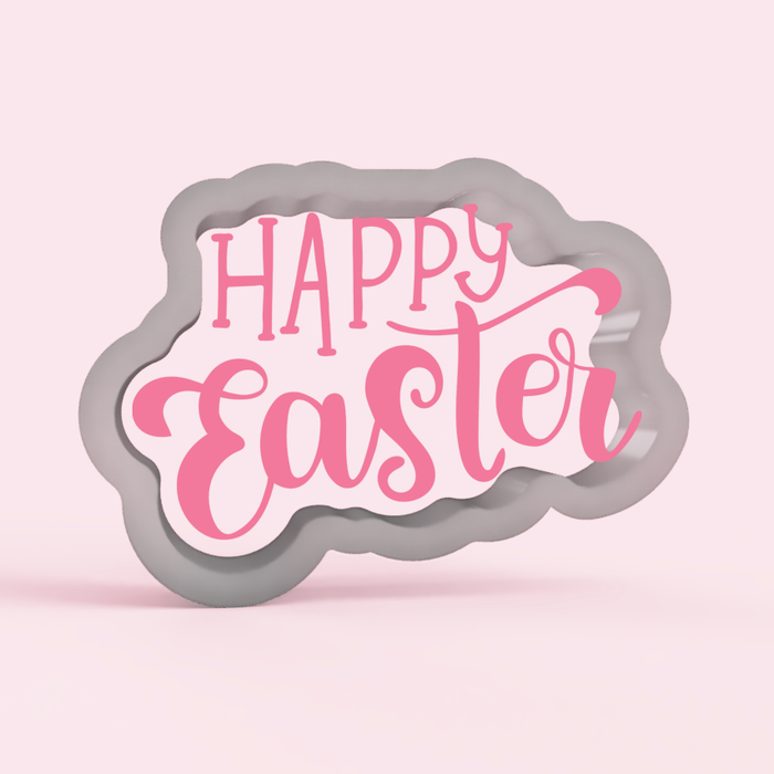 Happy Easter Script Cookie Cutter