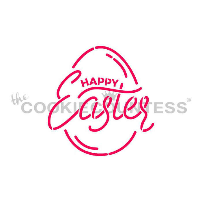 Easter Egg: Happy Easter Stencil