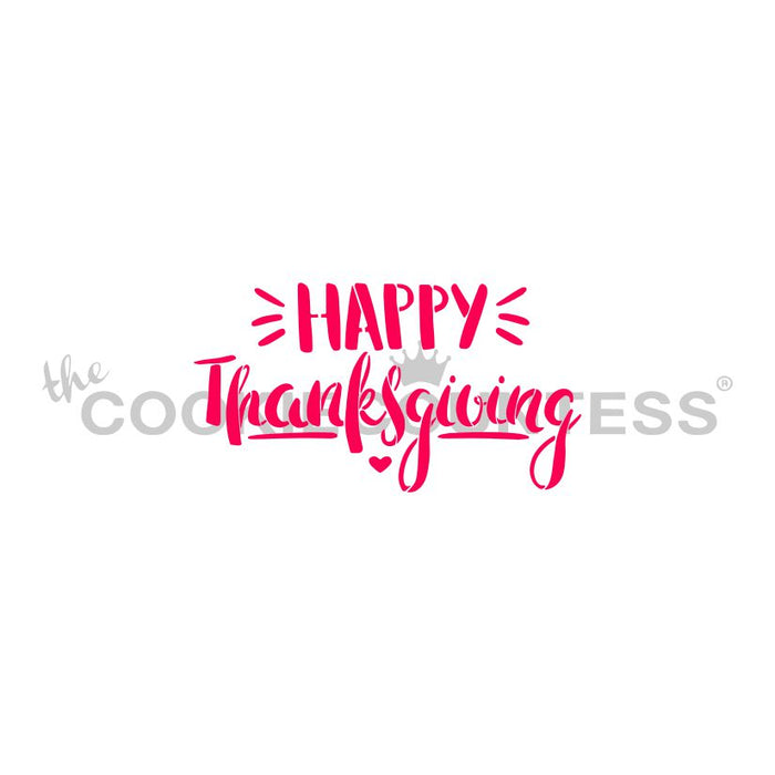 Happy Thanksgiving Fun Font Stencil