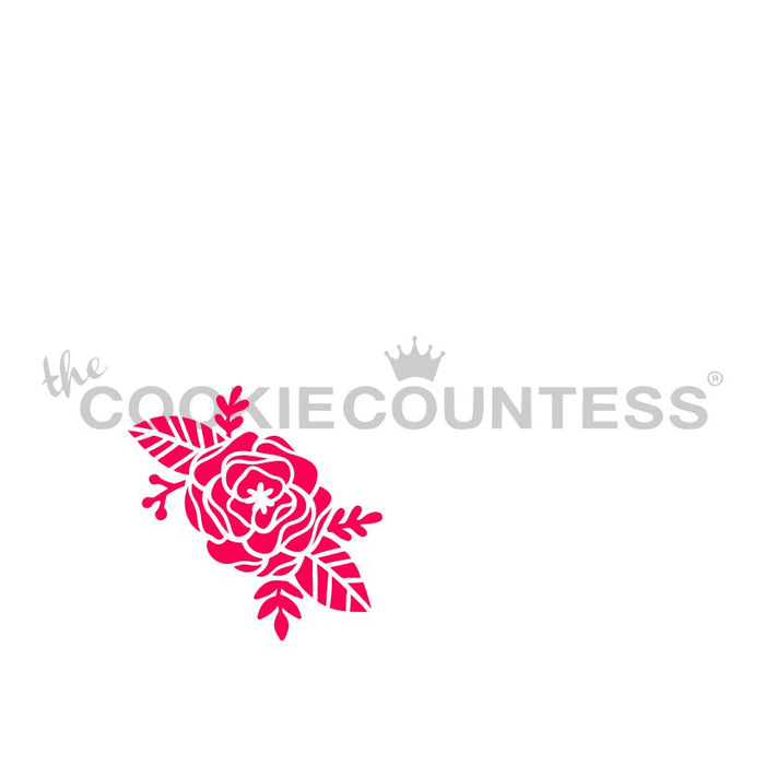 Hello Flowers Wreath 3 Piece Stencil