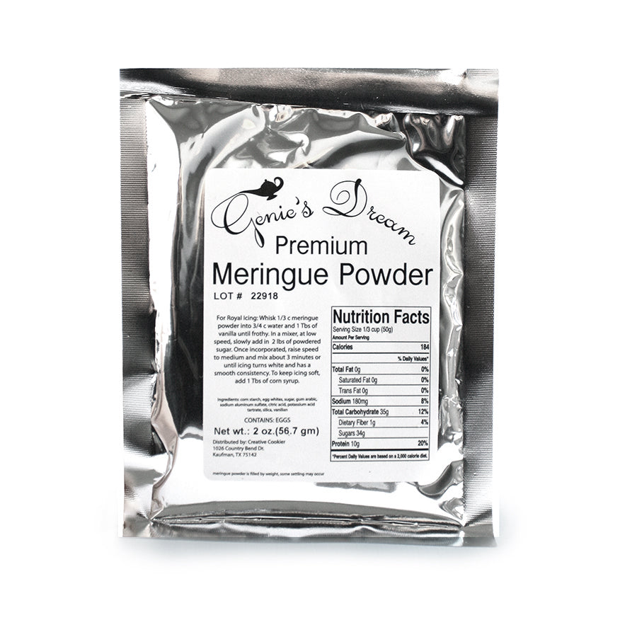Genie's Dream Meringue Powder 2oz Sample