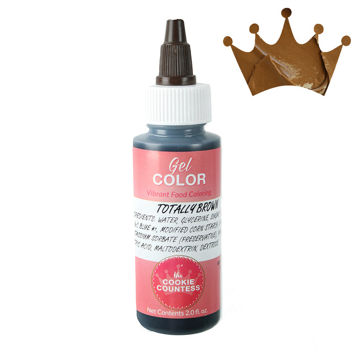 Cookie Countess Gel Icing Color 2oz - Totally Brown