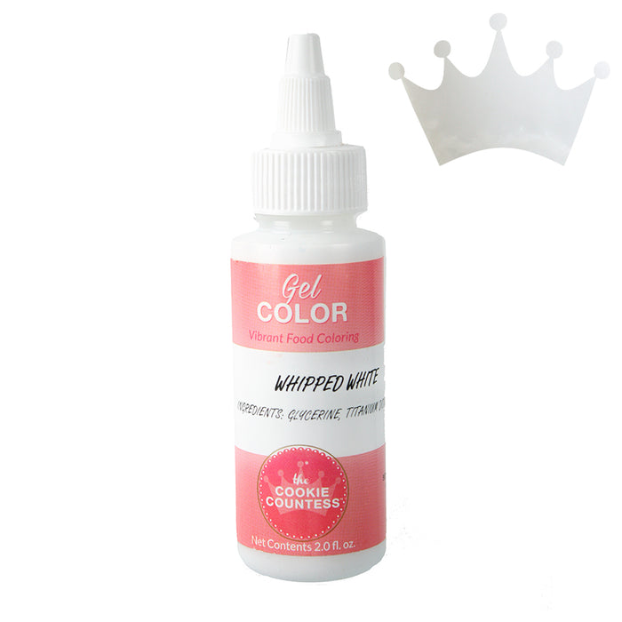 Cookie Countess Gel Icing Color 2oz - Whipped White