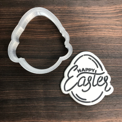 Easter Egg -Happy Easter  - Cookie Cutter