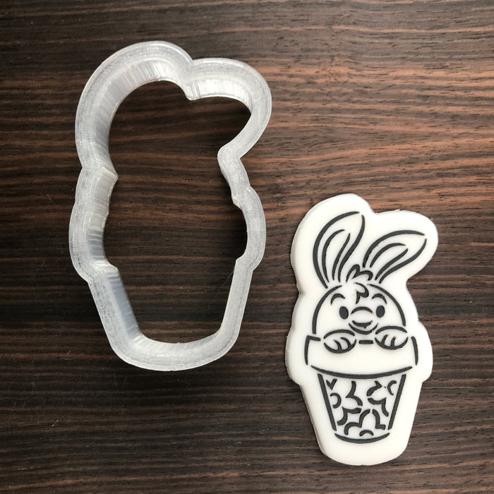 Bunny in a Pot - Cookie Cutter
