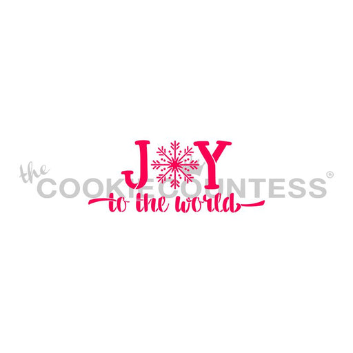 Joy to the World - Snowflake Stencil
