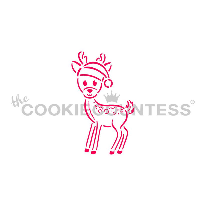 Little Deer in a Santa Hat PYO Stencil