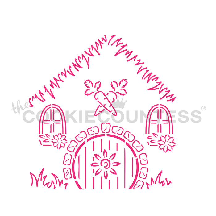Bunny Bungalow Easter House - 4 Piece Stencil