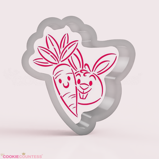 Carrot and Bunny Buddies - Cookie Cutter