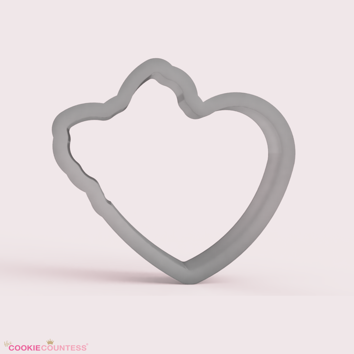 Heart with Bow - Cookie Cutter