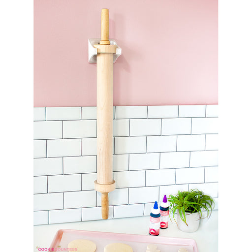 The Cookie Countess Precision Rolling Pin - Wall Mounted Hanger