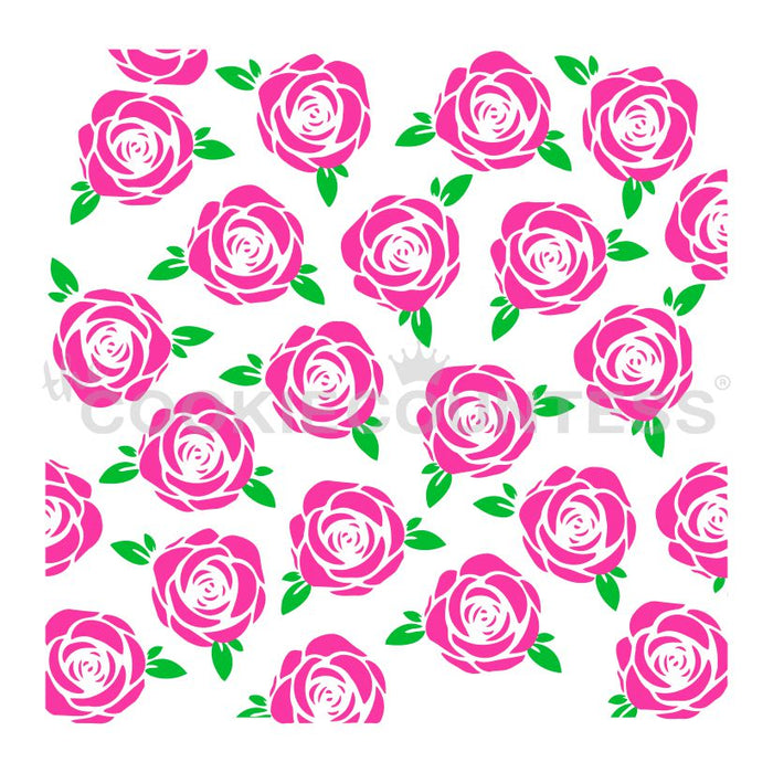 Roses 2 Piece Stencil