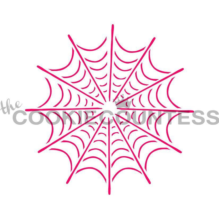 Single Spider Web Stencil