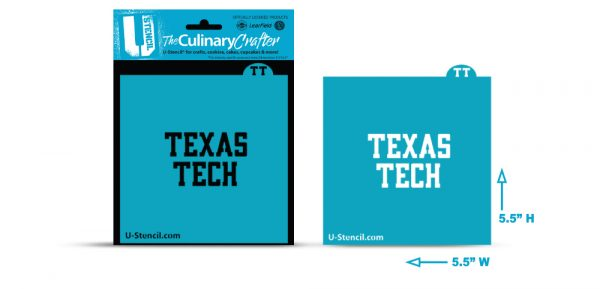 COLLEGE STENCIL - Texas Tech -