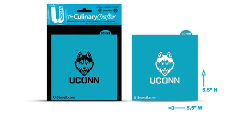 College Stencil - Connecticut Husky UCONN