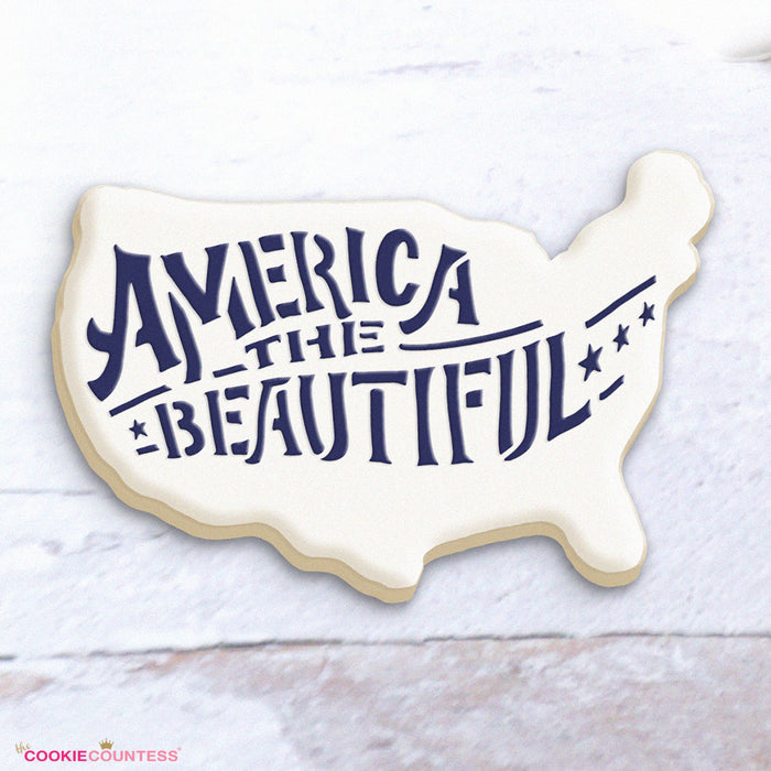 America the Beautiful Stencil