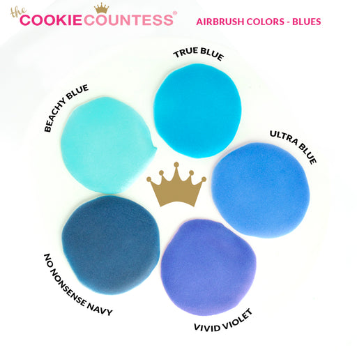 Cookie Countess - No Nonsense Navy edible airbrush color 2oz