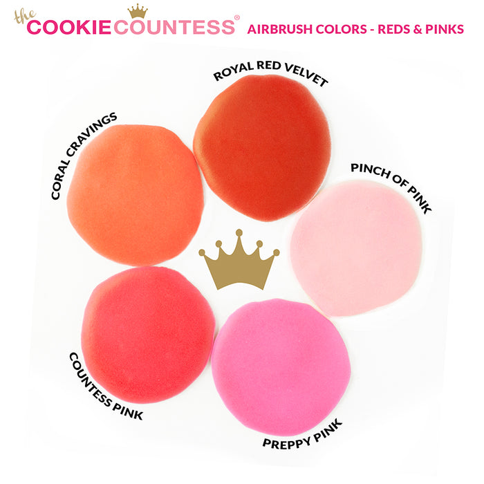 Cookie Countess - Coral Cravings edible airbrush color 2oz