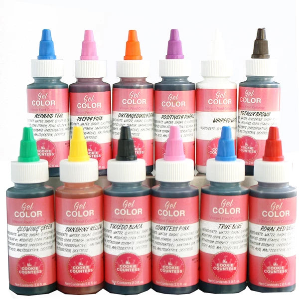 Cookie Countess Essential Set  - Gel Icing Colors