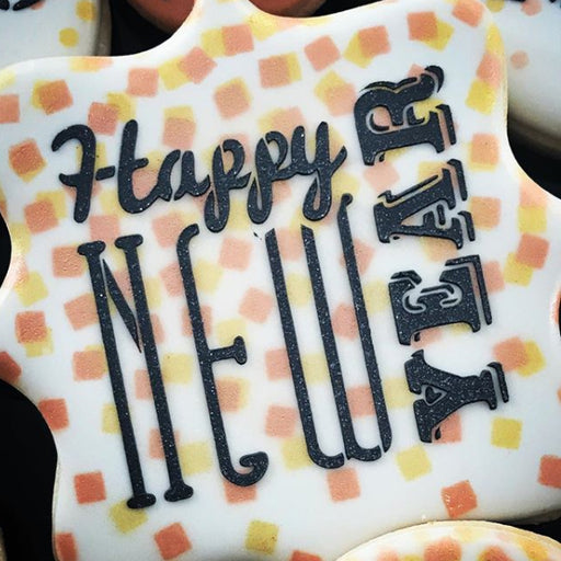 Happy New Year 2 Stencil