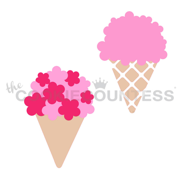 Bouquet or Ice Cream - 2 Piece Stencil