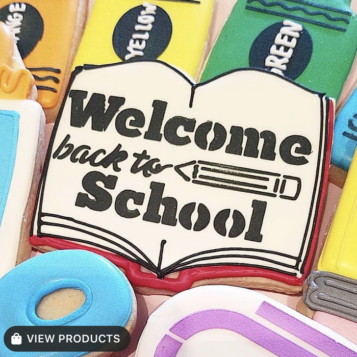 Flour Box Stencil - Welcome Back to School