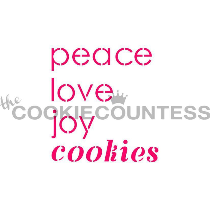 Peace Love Joy Cookies