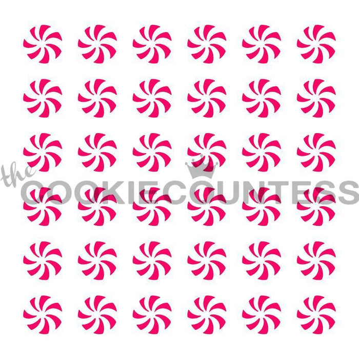 Peppermint Swirls Stencil