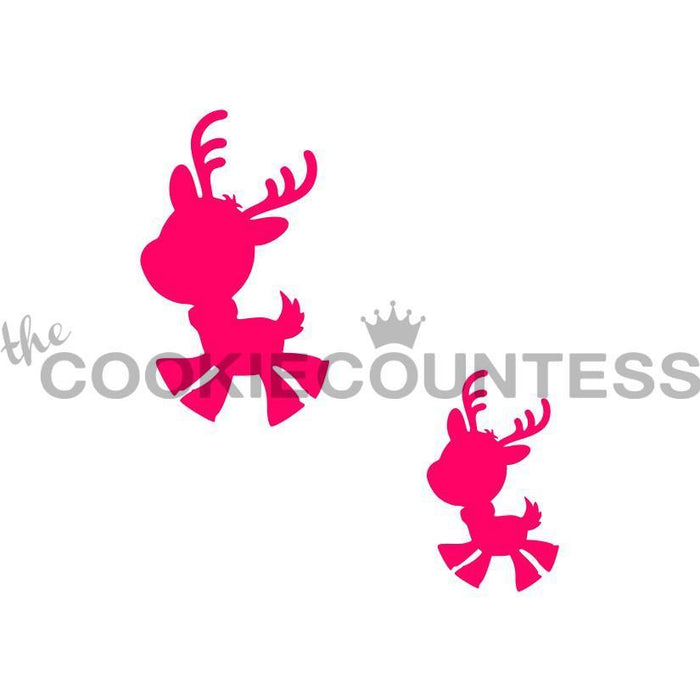 Playful Reindeer 2 sizes Stencil