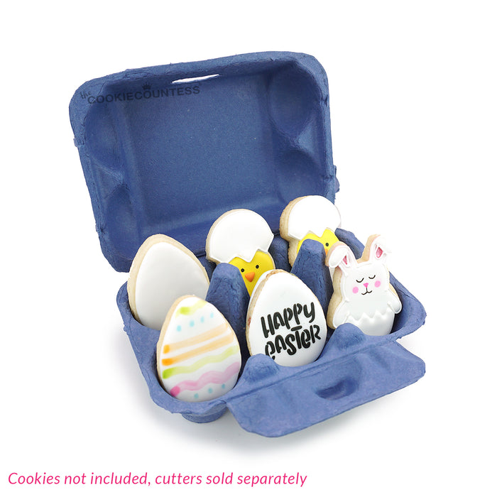 Night Blue Egg Cartons - Set of 8