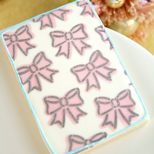 2 Piece Cute Bows Stencil