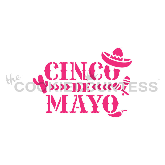 Cinco de Mayo with Icons Stencil