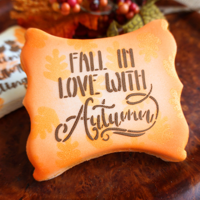 Fall in Love with Autumn Stencil