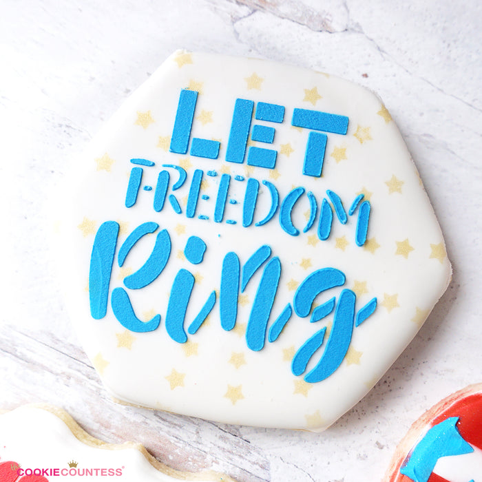 Let Freedom Ring Stencil