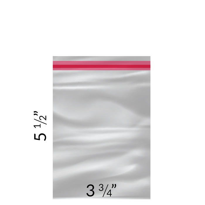 "Clear lip & tape Bags 3 3/4"" x 5 1/2"" - pack of 100"