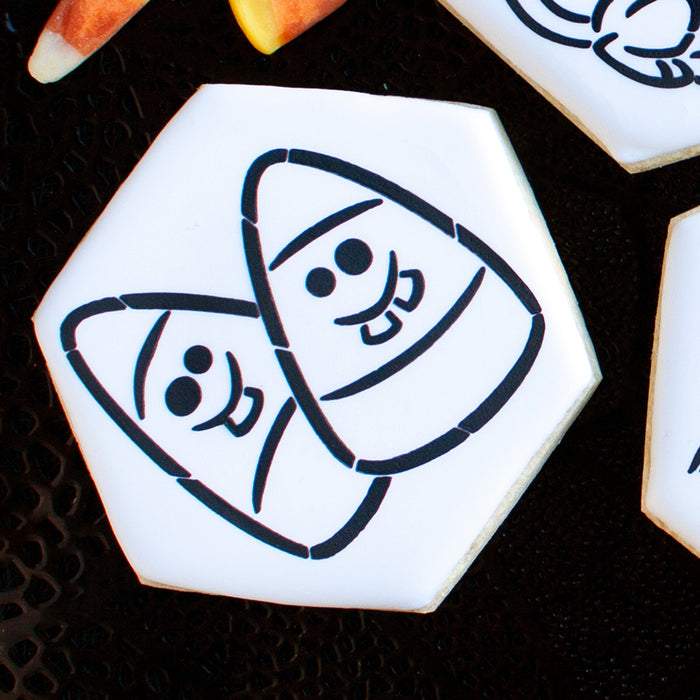 Goofy Candy Corn Stencil - Drawn by Krista