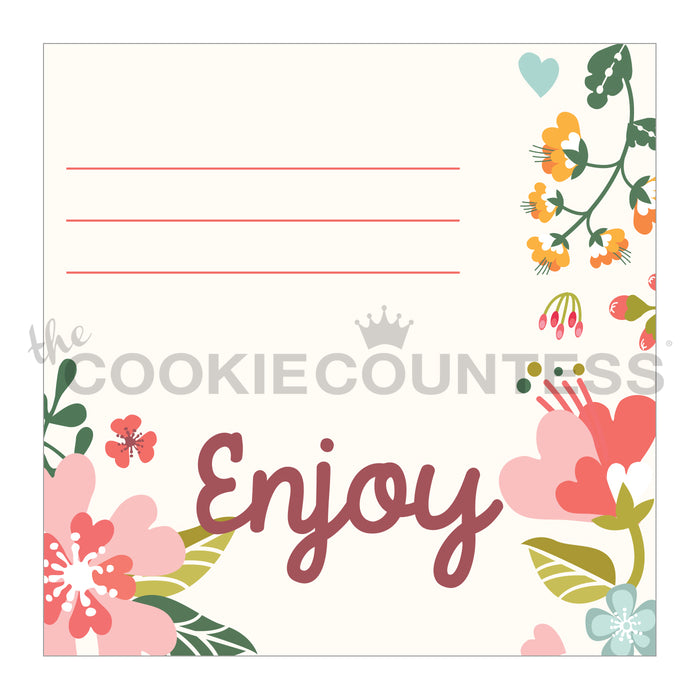 Cookie Bag Topper - Everyday Florals