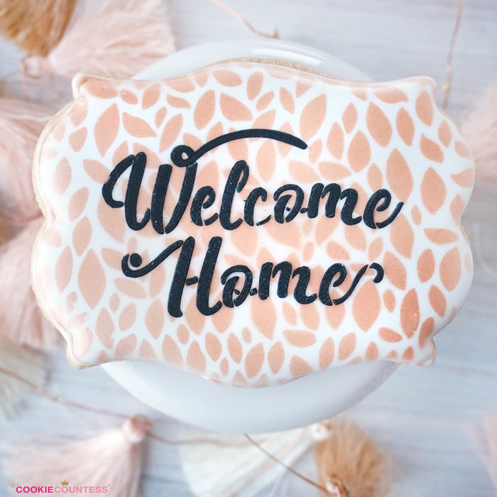Welcome Home Stencil