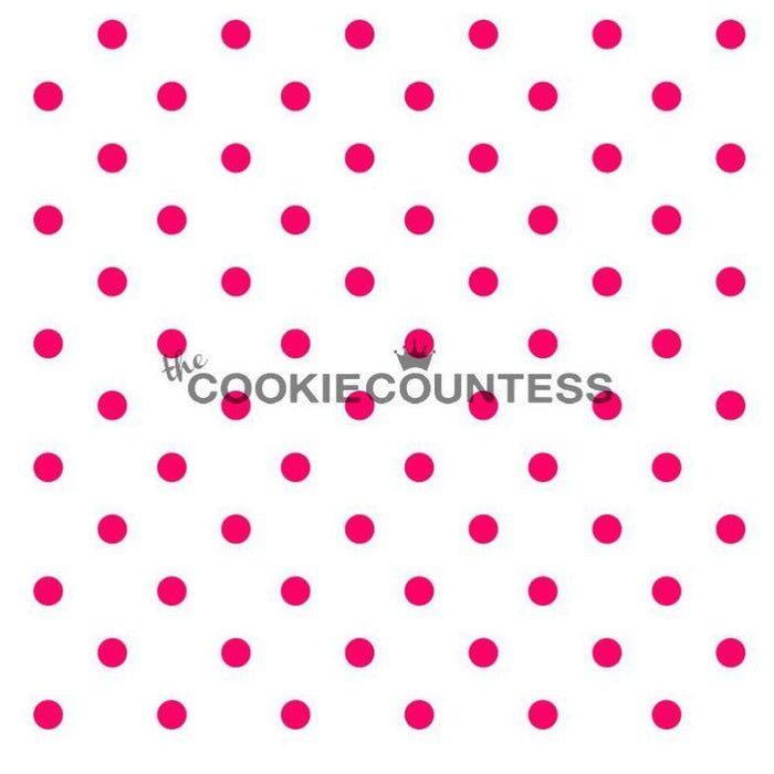 Polka Dots Pattern Cookie And Cake Stencil Minnie Made In