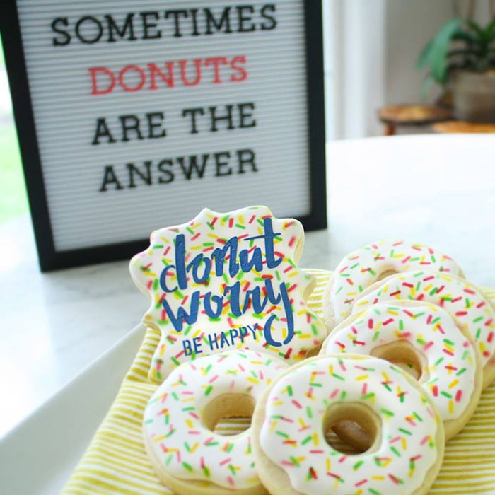 Donut Worry Be Happy Stencil