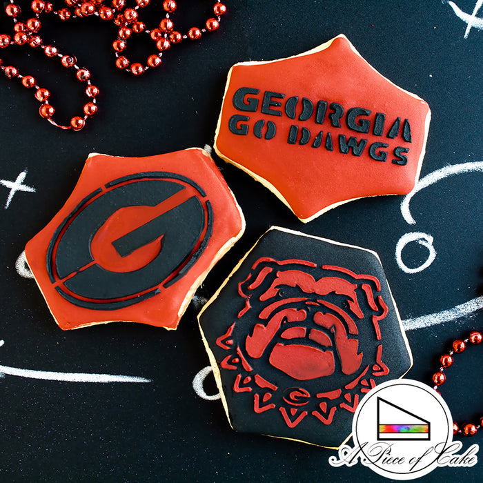 College Stencil - Georgia GO DAWGS