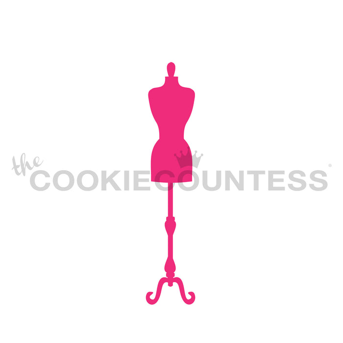 Dress Mannequin / Dress Form Stencil