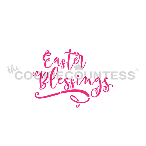 Easter Blessings Stencil
