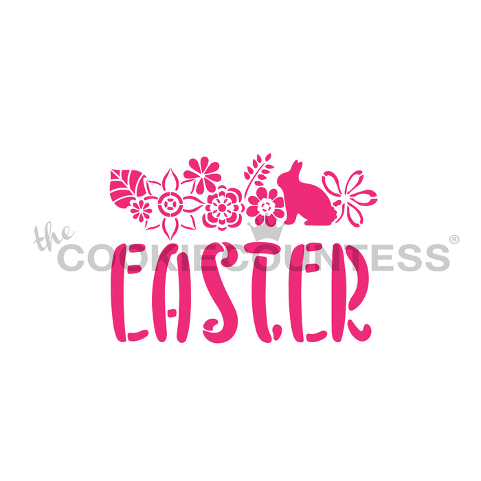 Easter Floral Top Stencil