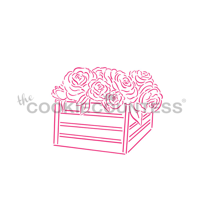 Fresh Flower Crate PYO Stencil