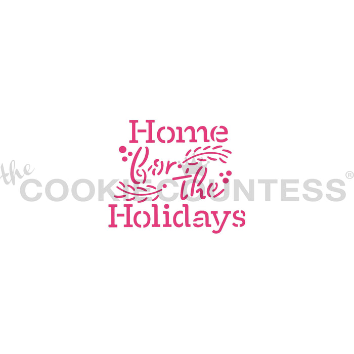 Flour Box Stencil - Home for the Holidays