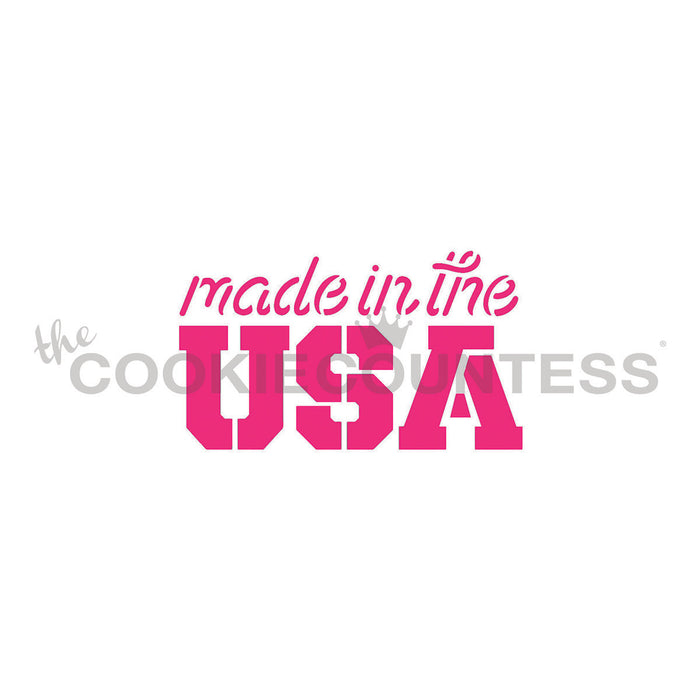 Made in the USA Stencil